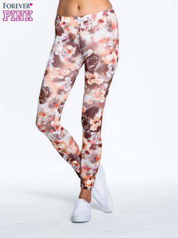 Kwiatowe elastyczne legginsy