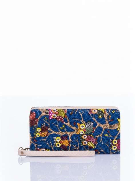 Niebieski portfel w sówki