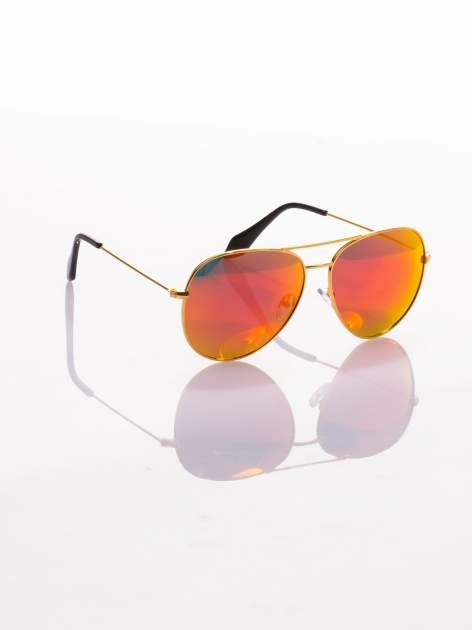 Okulary przeciwsłoneczne z POLARYZACJĄ typu AVIATOR LUSTRZANKA