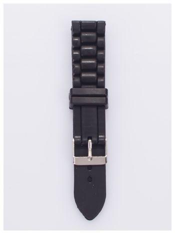 Pasek silikonowy do zegarka 20 mm - czarny