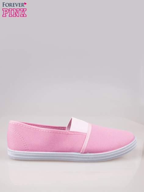 Różowe miękkie buty slip on
