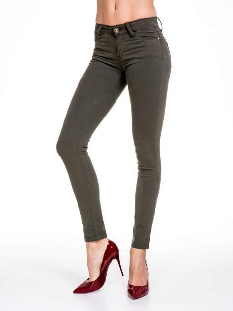 STRADIVARIUS Khaki spodnie skinny typu rurki