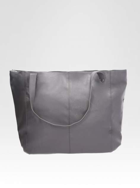 STRADIVARIUS Szara torba shopper bag