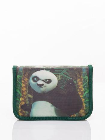 Zielony piórnik szkolny DISNEY Kug Fu Panda Z WYPOSAŻENIEM!