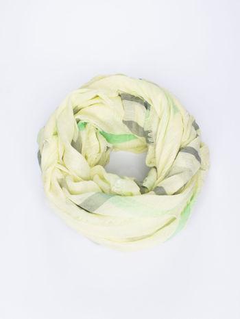 Żółta bawełniana chustka z frędzelkami