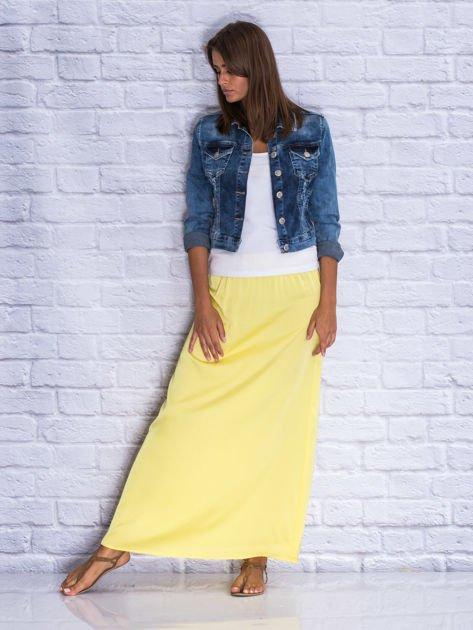 Żółta długa spódnica maxi