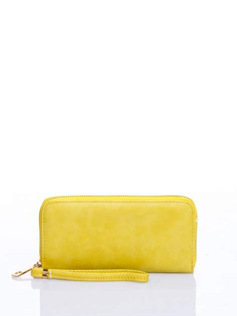 Żółty portfel z rączką
