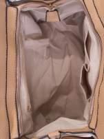 Brązowa torba z klamrami z odpinanym paskiem