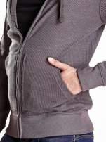 Ciemnoszara bluza męska z kapturem