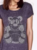 Ciemnoszary t-shirt z nadrukiem zwierzątka