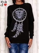 Czarna bluza z motywem sowy i łapacza snów