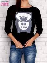 Czarna bluza z nadrukiem pandy