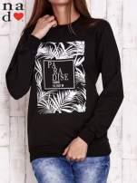 Czarna bluza z napisem PARADISE
