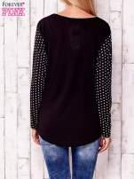 Czarna bluzka w groszki