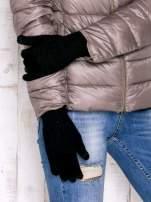 Czarne rękawiczki do obsługi ekranów dotykowych