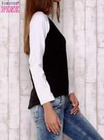 Czarno-biała gładka bluza