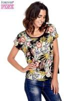 Czarny t-shirt z nadrukiem floral print