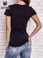 Czarny t-shirt z napisem ZOO YORK