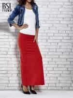 Czerwona długa spódnica maxi z rozporkiem