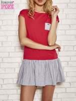 Czerwona dresowa sukienka tenisowa z kieszonką