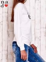 Ecru bluza z nadrukiem ważki