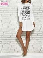 Ecru sukienka z napisem NEW YORK CITY