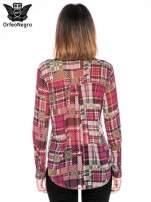Fioletowa koszula damska w kratę