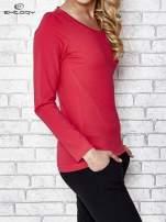 Fuksjowa bluzka sportowa z dekoltem U