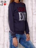 Grafitowa bluza z napisem LOVE END