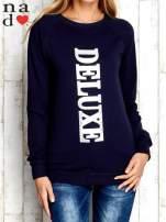 Granatowa bluza z napisem DELUXE