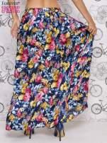 Granatowa spódnica maxi w kwiaty