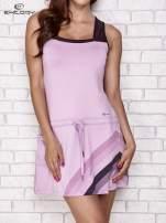 Jasnofioletowa sukienka sportowa z ciemniejszymi wstawkami