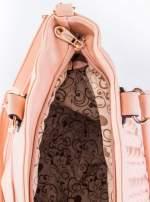 Jasnoróżowa pikowana torba na ramię