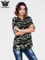 Koszula damska we wzór moro z ćwiekami na kołnierzyku