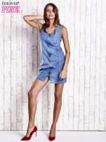 Niebieska denimowa sukienka z suwakiem