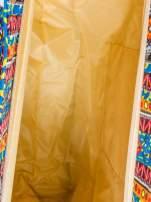 Niebieska torba plażowa w azteckie wzory