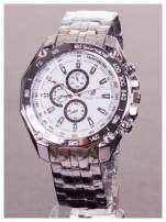 ORLANDO Potężny męski zegarek na srebrnej bransolecie