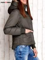 Oliwkowa kurtka z odpinanymi rękawami FUNK N SOUL