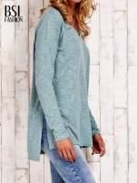 Pastelowozielona bluzka z rozporkami z boku