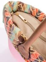 Różowa torba gumowa z motywem azteckim