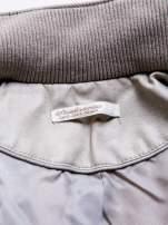 STRADIVARIUS Beżowa kurtka typu ramoneska z zamszu