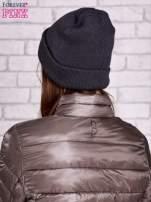 Szara wywijana czapka z napisem ABLE