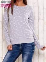 Szaro-biała bluza motyw buldożków