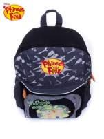 Szary plecak szkolny DISNEY Fineasz i Ferb