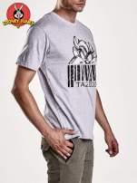 Szary t-shirt męski LOONEY TUNES