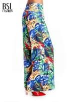 Szerokie spodnie culottes z egzotycznym nadrukiem
