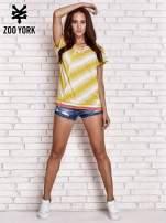 Żółty t-shirt z graficznym nadrukiem