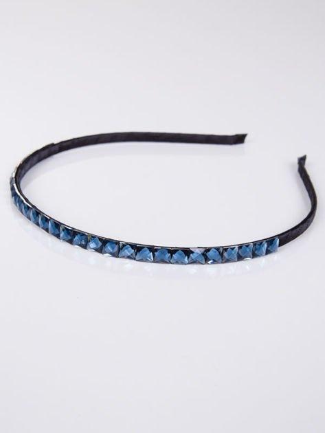 INCA Opaska do włosów z ozdobnymi niebieskimi cyrkoniami                              zdj.                              1