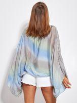SCANDEZZA Niebiesko-szara zwiewna bluzka ombre                                  zdj.                                  5