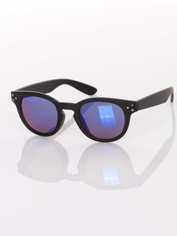Czarne matowe okulary przeciwsłoneczne w stylu Vintage